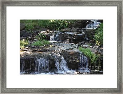 Poconos Waterfall Stream Framed Print by John Telfer