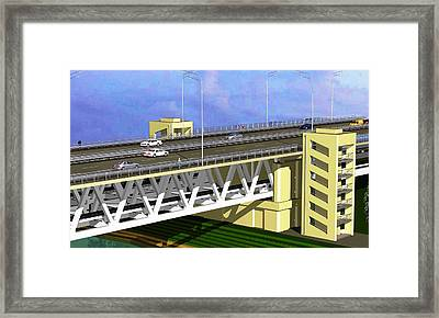 Podilsky Bridge Framed Print by Oleg Zavarzin