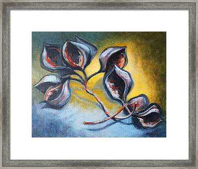 Pods Framed Print by Peggy Wrobleski
