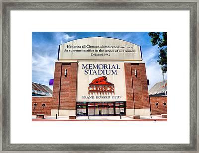 Poe Plaza - Clemson University Framed Print