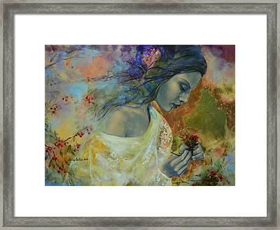 Poem At Twilight Framed Print by Dorina  Costras