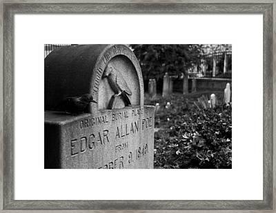 Poe's Original Grave Framed Print