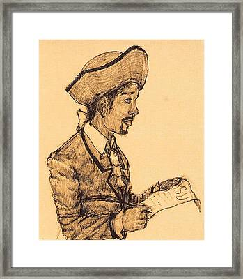 Poet Framed Print