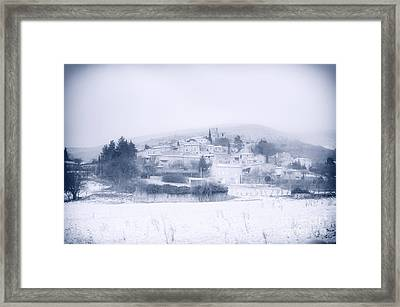 Poet-laval In Snow  Framed Print