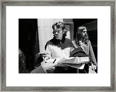 Poet Michael Mcclure Framed Print by Underwood Archives Adler