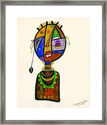 Poetic Faces Framed Print by Oglafa Ebitari Perrin