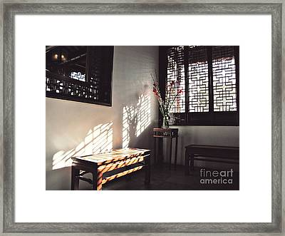 Framed Print featuring the photograph Poetic Reflection by Cendrine Marrouat