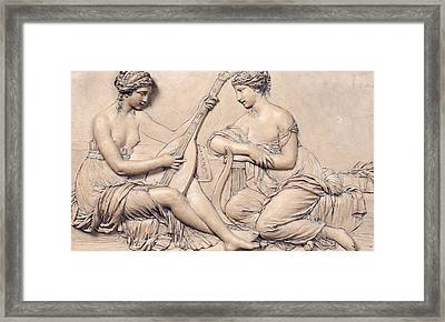 Poetry And Music Framed Print by Claude Michel Clodion