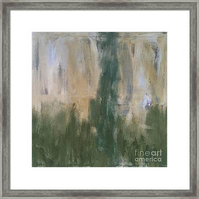 Poetry In Green Framed Print by Bebe Brookman