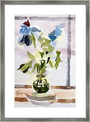 Poetry In The Window Framed Print by Kip DeVore
