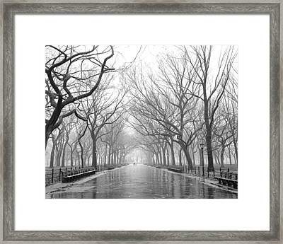Framed Print featuring the photograph New York City - Poets Walk Central Park by Dave Beckerman