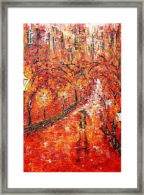Poet's Walk  Framed Print