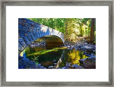 Pohono Bridge Yosemite National Park Framed Print by Scott McGuire