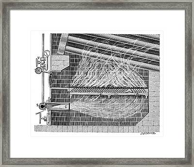 Poillon Boiler Furnace Framed Print by Science Photo Library