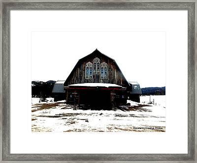 Poineer Church Framed Print by Misty Herrick
