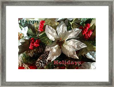 Poinsetta Christmas Card Framed Print by Aimee L Maher Photography and Art Visit ALMGallerydotcom