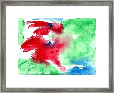 Poinsettia Framed Print by Alethea McKee