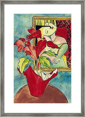 Poinsettia And Picasso Framed Print