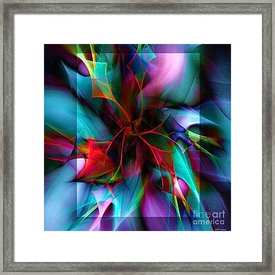 Poinsettia Cool Square Framed Print by Elizabeth McTaggart