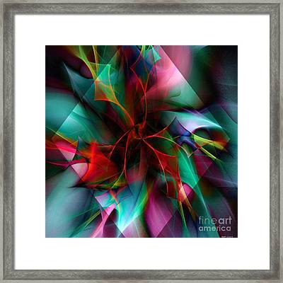 Poinsettia Warm Diamond  Framed Print by Elizabeth McTaggart