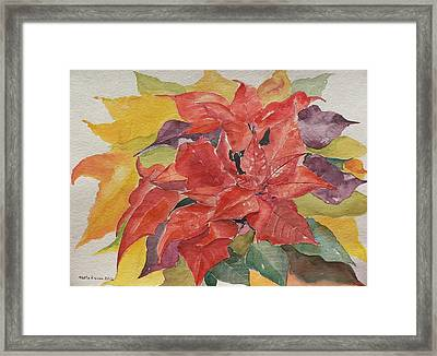 Framed Print featuring the painting Poinsettias by Geeta Biswas