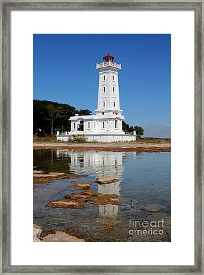 Point Abino Reflections Framed Print