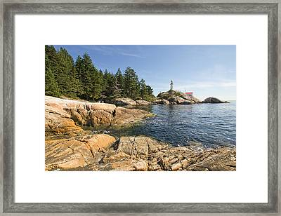 Framed Print featuring the photograph Point Atkinson Lighthouse In Vancouver Bc by JPLDesigns