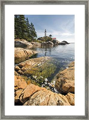 Framed Print featuring the photograph Point Atkinson Lighthouse In Vancouver Bc Vertical by JPLDesigns