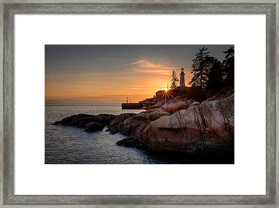 Point Atkinson Sunset Framed Print
