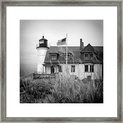 Point Betsie Lighthouse II Framed Print by Jeff Burton