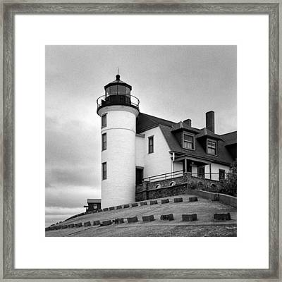 Point Betsie Lighthouse Framed Print by Jeff Burton