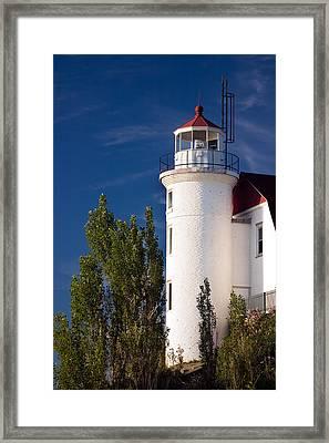 Point Betsie Lighthouse Michigan Framed Print