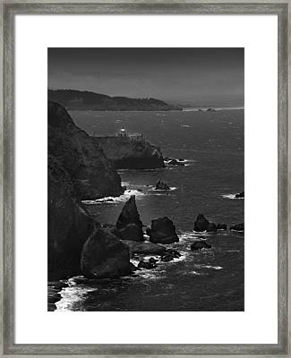 Point Bonita Light Framed Print by Mike McGlothlen