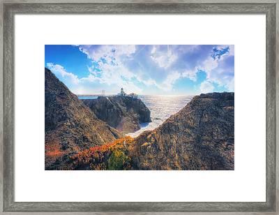 Point Bonita Lighthouse - Marin Headlands 2 Framed Print by Jennifer Rondinelli Reilly - Fine Art Photography