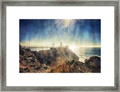 Point Bonita Lighthouse - Marin Headlands 3 Framed Print