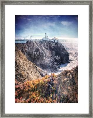 Point Bonita Lighthouse - Marin Headlands 5 Framed Print