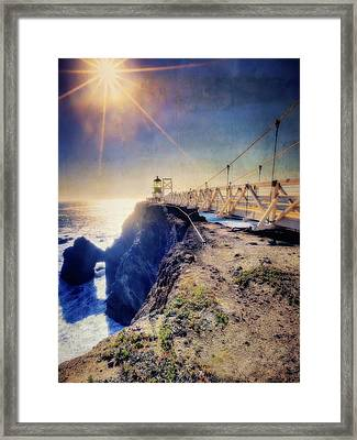 Point Bonita Lighthouse - Marin Headlands 7 Framed Print by Jennifer Rondinelli Reilly - Fine Art Photography