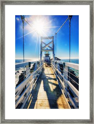 Point Bonita Lighthouse And Bridge - Marin Headlands Framed Print by Jennifer Rondinelli Reilly - Fine Art Photography