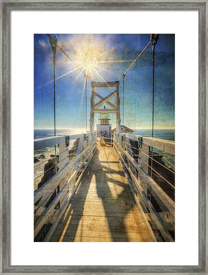 Point Bonita Lighthouse And Bridge 2 - Marin Headlands Framed Print by Jennifer Rondinelli Reilly - Fine Art Photography
