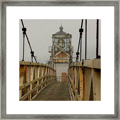 Point Bonita Lighthouse Framed Print by Art Block Collections