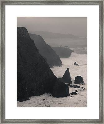 Framed Print featuring the photograph Point Bonita Lighthouse by Scott Rackers