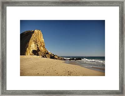 Point Dume At Zuma Beach Framed Print by Adam Romanowicz