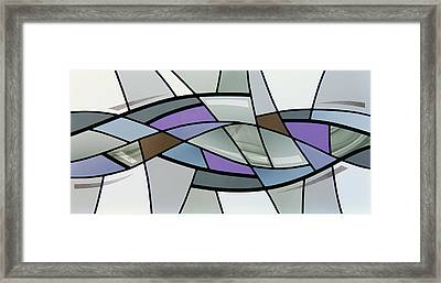 Point Grey Abstract Framed Print by Gilroy Stained Glass