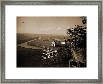 Point Hotel And The Battlefield, Lookout Mountain, Jackson Framed Print by Litz Collection