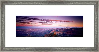Point Imperial At Sunset, Grand Canyon Framed Print