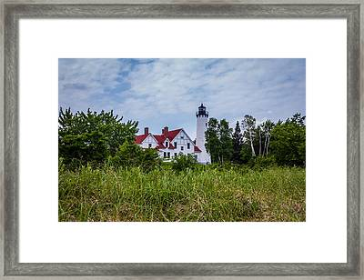 Point Iroquois Lighthouse Framed Print