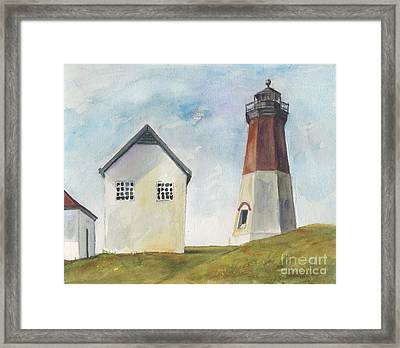 Point Judith Light Framed Print by Susan Herbst