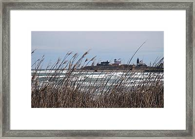 Framed Print featuring the photograph Point Judith Lighthouse by Glenn DiPaola