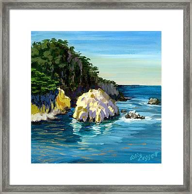 Point Lobos Rock Framed Print by Alice Leggett