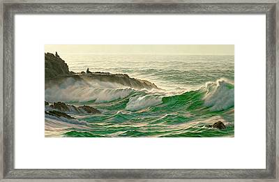 Point Lobos Surf Framed Print by Paul Krapf